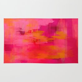 """Abstract brushstrokes in pastel pinks and oranges decorative pattern"" Rug"