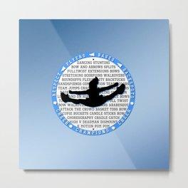 Blue Cheer Circle Metal Print