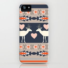 Romantic deer iPhone Case