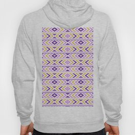 Purple & Gold Tribal Pattern 05 Hoody