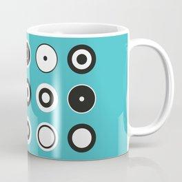 Circles Turquoise Coffee Mug
