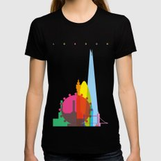 Shapes of London. Accurate to scale Womens Fitted Tee LARGE Black