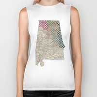 alabama Biker Tanks featuring Alabama by judy lee