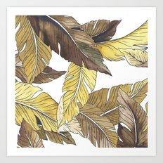 Banana's Jungle II Art Print