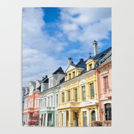 Colored Homes of Bergen, Norway Poster