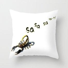 Let it Die - Sa-ri Scorpion (Trail) Throw Pillow