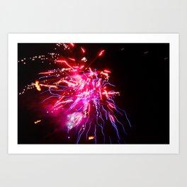 Electro Thai Fireworks Art Print