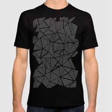 Abstraction Linear Black Mens Fitted Tee X-LARGE