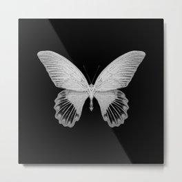 Butterfly Skeleton Metal Print