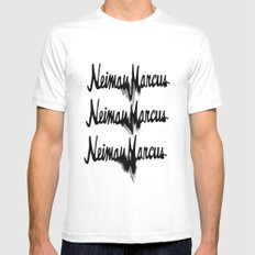 NM drips Mens Fitted Tee MEDIUM White