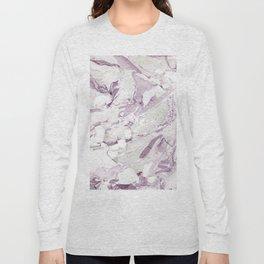 Purple marble Long Sleeve T-shirt