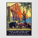 Vintage poster - Forth Bridge by mosfunky