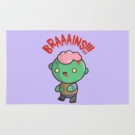 Zombie Kawaii | BRAAAINS!!!! BRAINS!! Halloween Rug