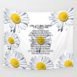 Daisy Flower with Christian Faith Base Poem Wall Tapestry
