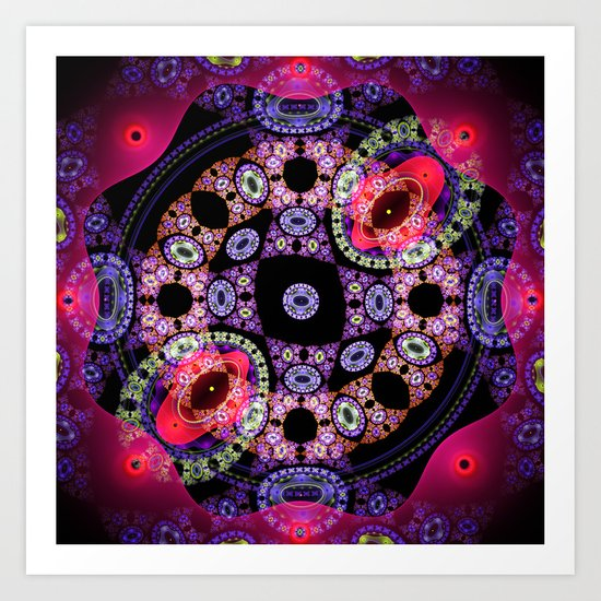 Dance in pink and purple, abstract pattern design Art Print