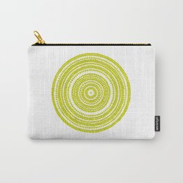 Lime green dot art painting Carry-All Pouch