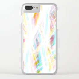 Color Rays Clear iPhone Case