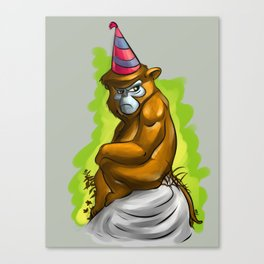 Birthday monkey. Canvas Print