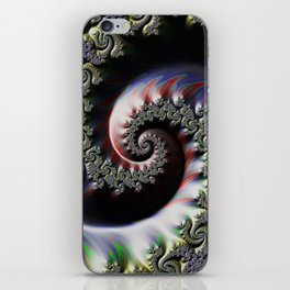 Cool Wet Paint Fractal Swirl of RGB Primary Colors iPhone Skin