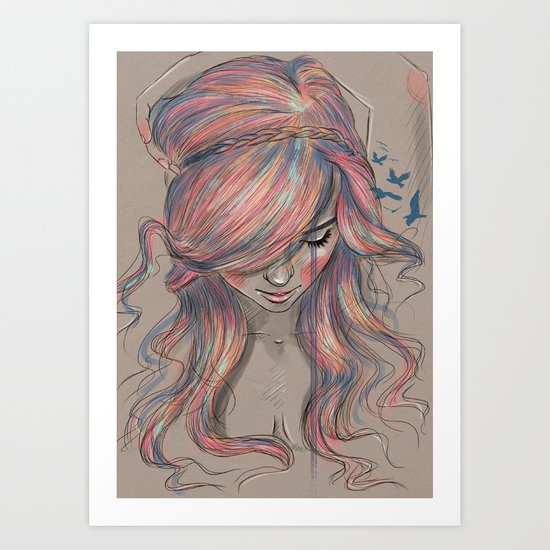 Colourblind Art Print