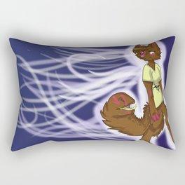 anthro dog Rectangular Pillow