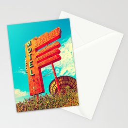 Abandoned motel sign Stationery Cards