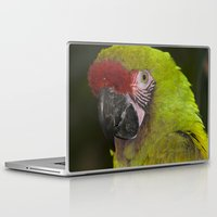 military Laptop & iPad Skins featuring Military Macaw by Maureen Bates Photography