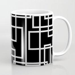 Geometric Cubic Line Pattern Black And White Coffee Mug