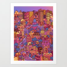 Tuna Plaza Art Print
