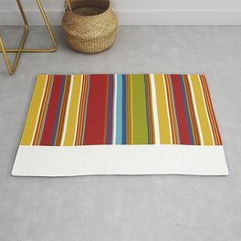 Colorful Striped Cabana Pattern Rug