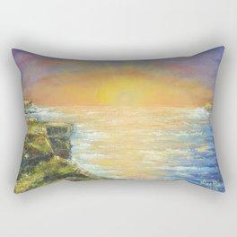 Gozo island, Malta. Malta sunset seascape Rectangular Pillow