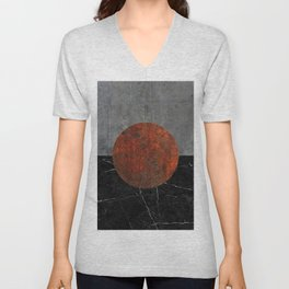 Abstract - Marble, Concrete, and Rusted Iron II Unisex V-Neck