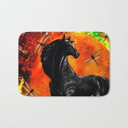 HORSE MOON AND DRAGONFLY VISIONS Bath Mat