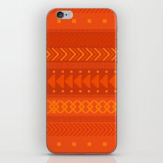 Lava - tribal geometrics iPhone & iPod Skin