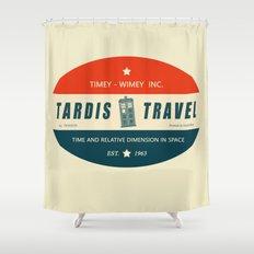 Tardis Travel - Fantasy Travel Logo Shower Curtain