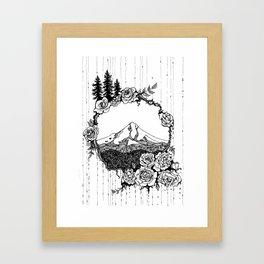 Rose City (B/W) Framed Art Print