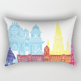 Chennai skyline pop Rectangular Pillow