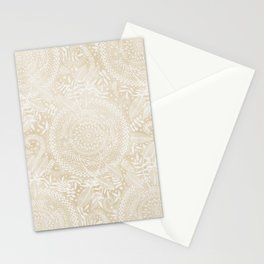 Medallion Pattern in Pale Tan Stationery Cards