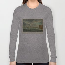 Vintage Painting of New York City (1825) Long Sleeve T-shirt