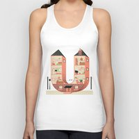 letter Tank Tops featuring Letter U by Margarida Esteves