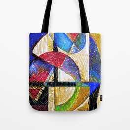Circles and Shapes Tote Bag