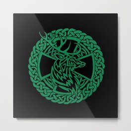 Celtic Nature Deer Metal Print