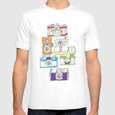 Colorful Cameras Mens Fitted Tee MEDIUM White
