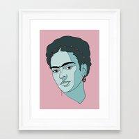 frida kahlo Framed Art Prints featuring Frida Kahlo by Liam Hopkins