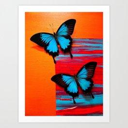 Blue Swallowtail on #5 Art Print