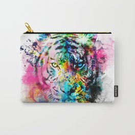 colorful tiger Carry-All Pouch
