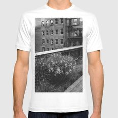 Highline Blooms II MEDIUM White Mens Fitted Tee