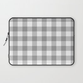 Small Gray & White Vichy Laptop Sleeve