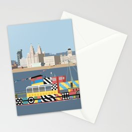Ferry on the Mersey Stationery Cards
