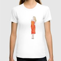 lip T-shirts featuring Orange Lip by Kelly Lindstrom